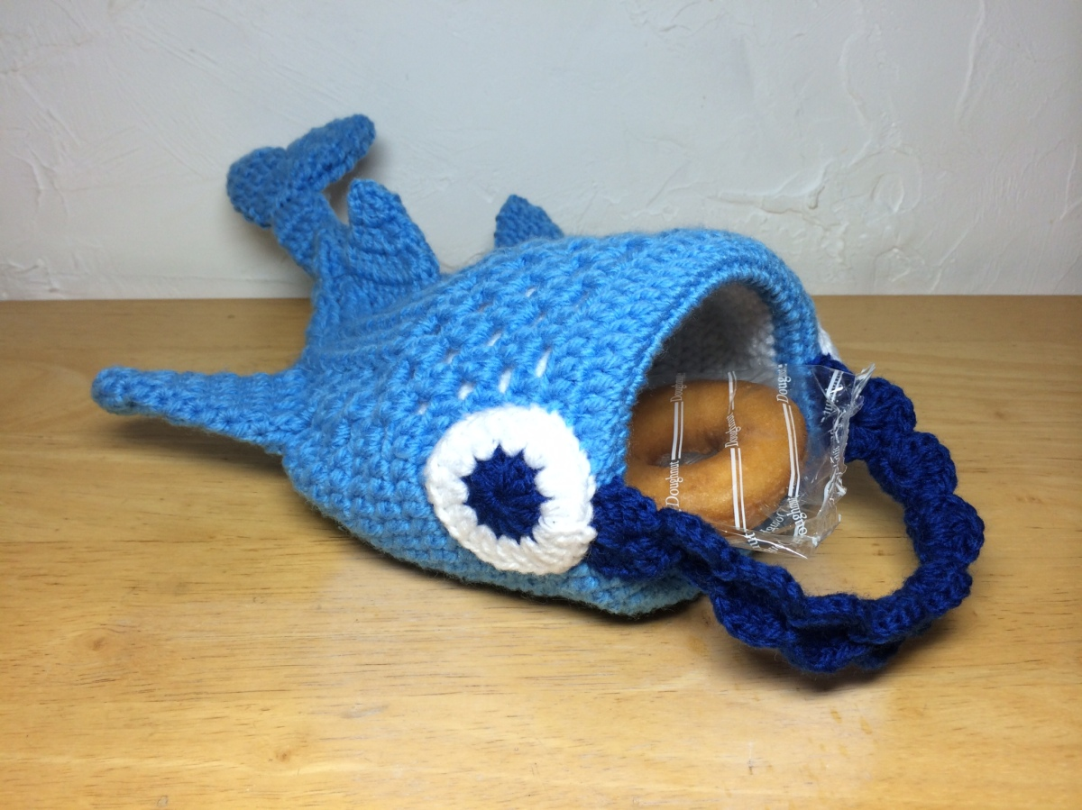 Whale Shark Amigurumi : PATTERN / ????Whale Shark mini Tote Bag / ??????????????? ...